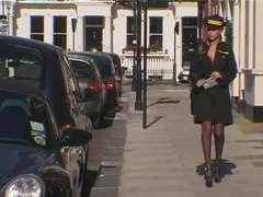 Ash-Blonde British Traffic Warden Ass Fucking