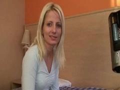 Slim Blonde Fucked In Hotel Room