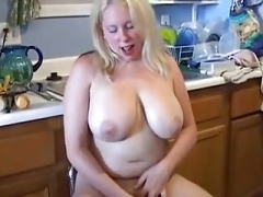 Bubbly blonde Real bbw loves to make love her soaking wet cunt