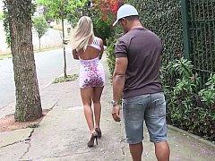 Blondine, Blasen, Brasilien, Schwanz, Hardcore, Milf, Realität, Ablutschen