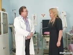 Mature Stazka gyno fetish really exam at kinky gyno office