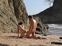 Жопа, Пляж, Красивые, Собачьи, На природе, Наездница