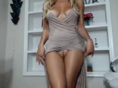 Blondine, Masturbation, Milf, Solo, Netzkamera