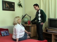 Nasty oral sex and doggystyle granny games