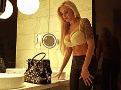 German Pornstar Nina Elle doing a little role playing