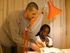 French black chick sodomised by tutor