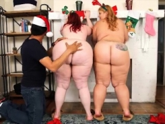 A duo Huge Booty BBWS Surprise Fake Santa Claus