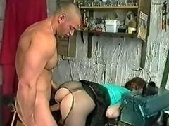 Pantyhose girl takes it anal