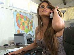 Incroyable, Américain, Brunette brune, Mignonne, Hard, Mère que j'aimerais baiser, Secrétaire, Grande