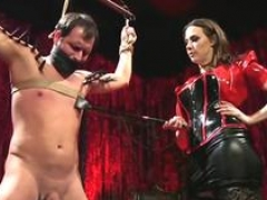 Superhot Dominatrix Is in Sexy Clothes While Spanking