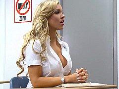Blonde, Déshabiller, Collège université, Mignonne, Se déshabiller, Professeur, Adolescente, Uniforme
