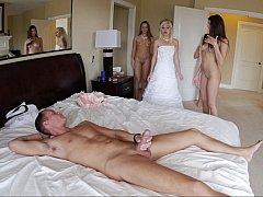 Schönheit, Schlafzimmer, Braut, Gruppensex, Gruppe, Party, Hochzeit