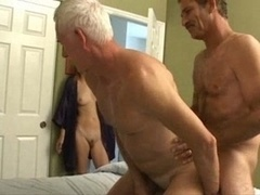 Old Man Slender Girl Bisex