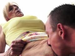 Grandma slut gives head