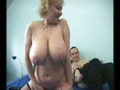 Granny Large Saggy Tits Stockings Fucked