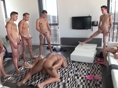 Gangbang slut from Argentina takes lots of dick and cum