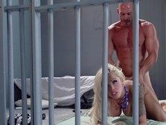 Jail house pounding of slutty blonde Nina Elle