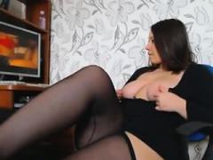 Bigtitted Big beautiful women skank rammed in white stockings