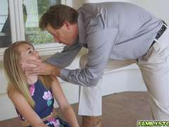 SIggy's tight twat got filled with a big hard dick of her step dad
