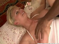 Blonde mom i`d like to fuck brutally fucked by huge black lad
