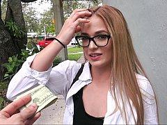 アメリカ人, フェラチオ, お金, アウトドア, ハメ撮り, 公共, オマンコ, フェラする