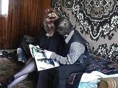 Russian Boy Having an intercourse A Readhead Mature