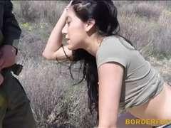 Border patrol agent banged sexy amateur latina at the border
