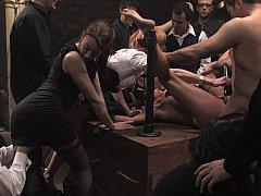 Bondage discipline sadomasochisme, Gebondenheid, Brutaal, Extreem, Groep, Straf, Slaaf, Vastgebonden