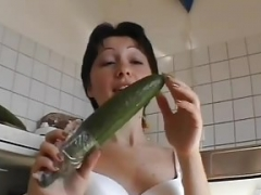 Hot female friend toying and giving a bj with cum in mouth