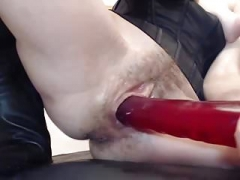 Bushy Pussy and Rectal Musturbate