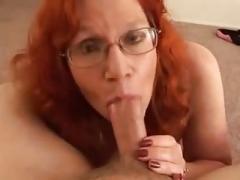 Boobalicious Redhead Big beautiful women Mature TITjob & Blowjob
