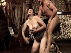 Busty fat female gets her twat pounded