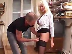Youthful French dudes gang up on a old mom & have an intercourse her hard
