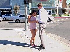 Abella Feels Wet & Happy To Meet Her Tall Boyfriend
