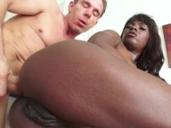 Ana Foxx drips with desire during interracial anal sex