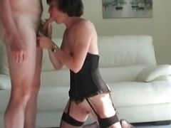 My Eager mom Exosed Old wife in fishnets with clean glabrous pus