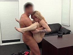 Petite babe mishandled and fucked on office table
