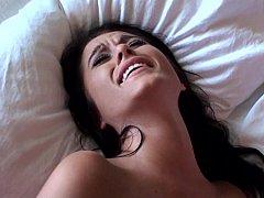 Enthousiasteling, Slaapkamer, Sperma, Sperma shot, Schattig, Vriendin, Mager, Tiener