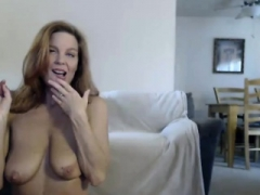 Bigtitted blonde milf toying and besides fucked