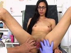 brunette doctor gaping and moreover cumshot feature video 1
