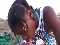 Африканки, Оргии, На природе