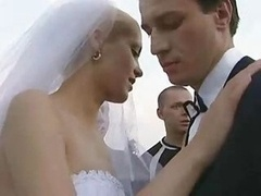 Bride Fucked Outdoors By Numerous Lad!