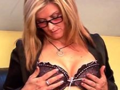 Glorious sex with excited blonde aged with piercing
