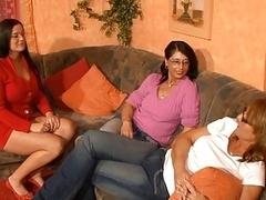 3 horny german moms having fun with a vibrator