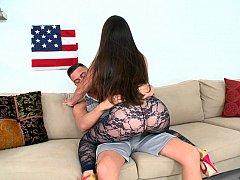 Américain, Cul, Sucer une bite, Brunette brune, Hard, Mère que j'aimerais baiser, Chevaucher, Suçant