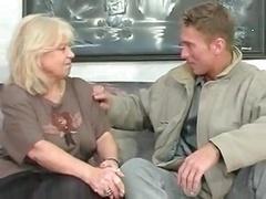 real bbw blonde granny fucks with immature man