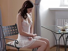 Horny Anita home alone