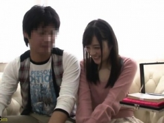 Rookie japanese oriental floozy blindfolded and played explicit