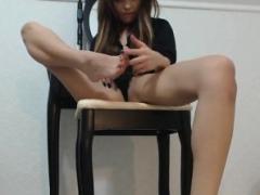Amateur, Brunette brune, Fétiche, Fétiche des pieds, Solo, Jarretelles, Webcam
