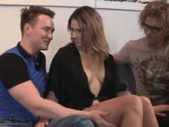 Broke fella allows excited familiar to screw his exgirlfriend for har